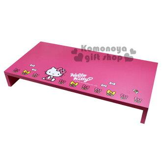 〔小禮堂〕Hello Kitty 螢幕鍵盤架《粉.側坐.蝴蝶結小花.KT-0007》也可做置物架