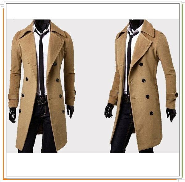 風衣外套 長大衣-流行時尚保暖防寒長版男外套3色5z25【韓國進口】【米蘭精品】