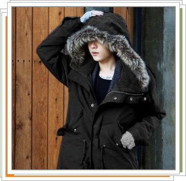 連帽外套-正韓流行時尚保暖防寒長版迷彩男外套3色5z30【韓國進口】【米蘭精品】
