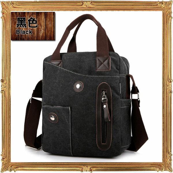 帆布包 肩背包-流行經典復古男包包4色6y54【義大利進口】【米蘭精品】