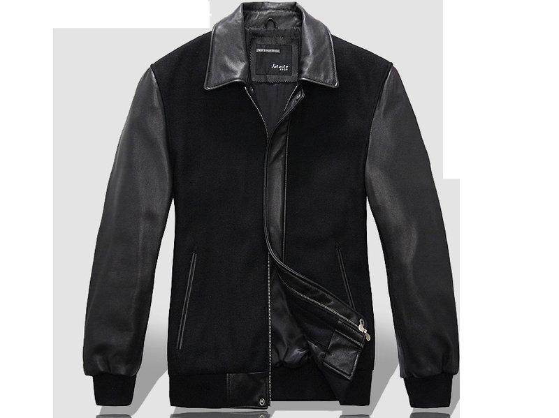 真皮皮衣外套-翻領修身時尚做舊男機車夾克lm78【義大利進口】【米蘭精品】