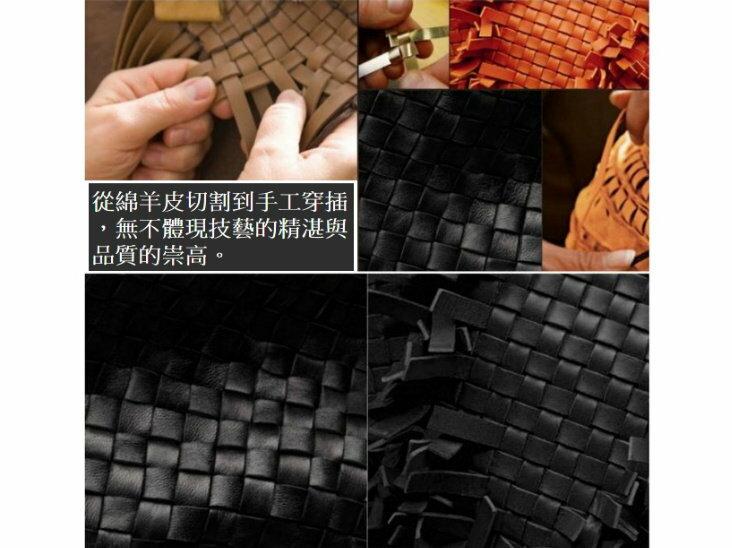 真皮羊皮編織包-時尚手工皮革肩背男包包 2色8c72【義大利進口】【米蘭精品】 2