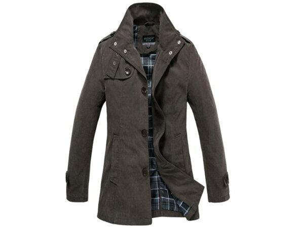 風衣外套 男大衣-秋冬保暖修身長版男外套2色cm150【韓國進口】【米蘭精品】