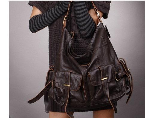 肩背包 女包包-流行時尚經典高貴真皮女側背包 2色9b96【義大利進口】【米蘭精品】 0