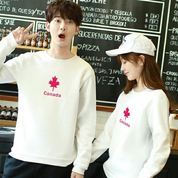 ◆快速出貨◆刷毛T恤 圓領刷毛 情侶T恤 暖暖刷毛 MIT台灣製.紅色小楓葉【YS0414】可單買.艾咪E舖 2