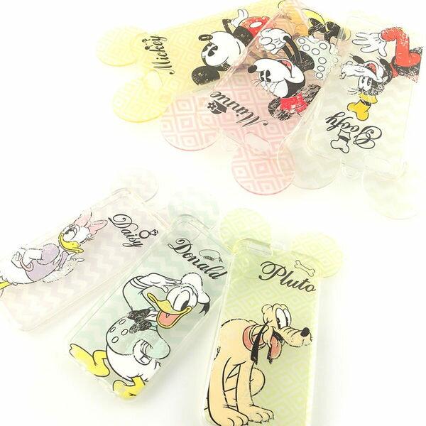 [APPLE]【Disney】耳朵造型彩繪透明保護軟套-復古斑駁系列[I6,I6S/I6+,I6s+] 5