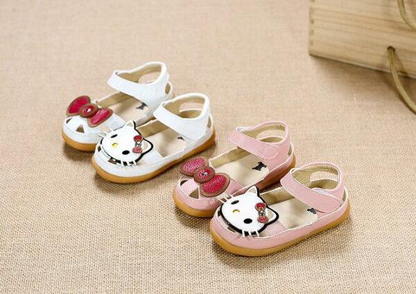 女童包頭涼鞋貓咪公主鞋hello kitty
