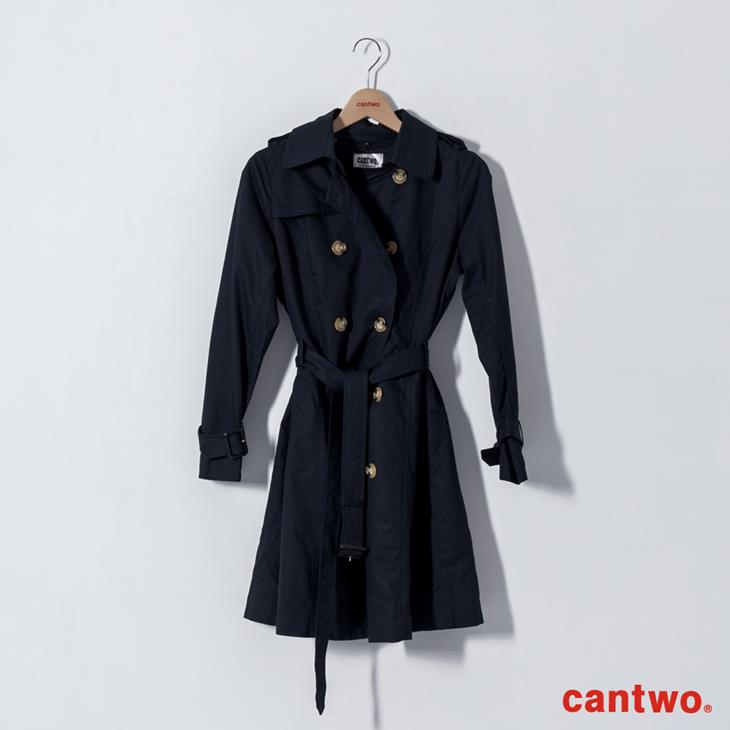 cantwo雙排釦兩穿式風衣外套(共二色) 7