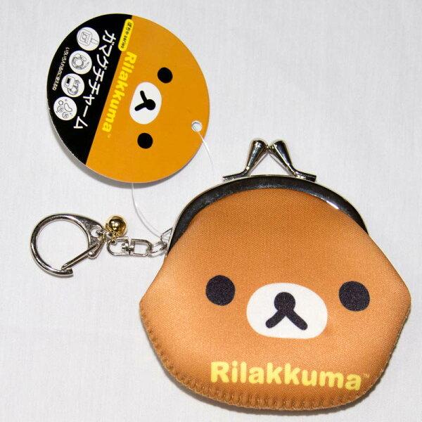 拉拉熊 懶懶熊 零錢包 多功能小包 鈴噹吊飾 日本正版商品