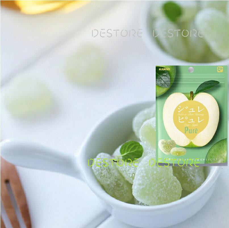 有樂町進口食品 甘樂Pure青蘋果軟糖63g J45 4901351059326 1