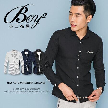 ☆BOY-2☆【NQ97001】美式潮流電繡長袖襯衫 0