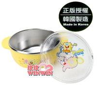 海綿寶寶週邊商品推薦海綿寶寶 - 633549 不鏽鋼雙柄小餐碗(附蓋)使用高品質304不鏽鋼材質製造