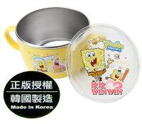 海綿寶寶週邊商品推薦海綿寶寶 - 633563不鏽鋼雙耳大杯碗(附蓋)使用高品質304不鏽鋼材質製造