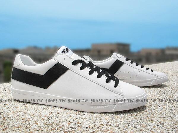 Shoestw【63U1TS61OW】PONY TOP STAR 復古板鞋 白黑 皮革 男生