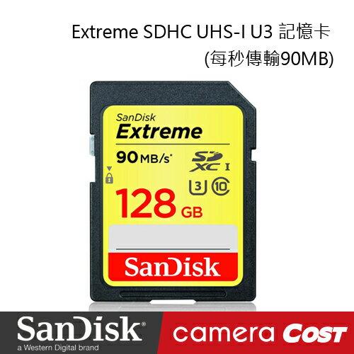 ★最新規 每秒傳輸90MB★SanDisk Extreme SDXC UHS-I U3 128GB 記憶卡 - 限時優惠好康折扣