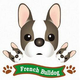 FIELD&POINT 超可愛狗狗車貼(法國鬥牛犬)