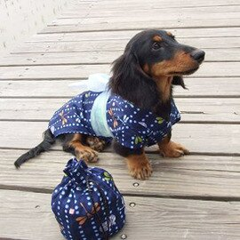 田園奏鳴曲女浴衣 - 藍精靈 -含臘腸狗尺吋狗衣服