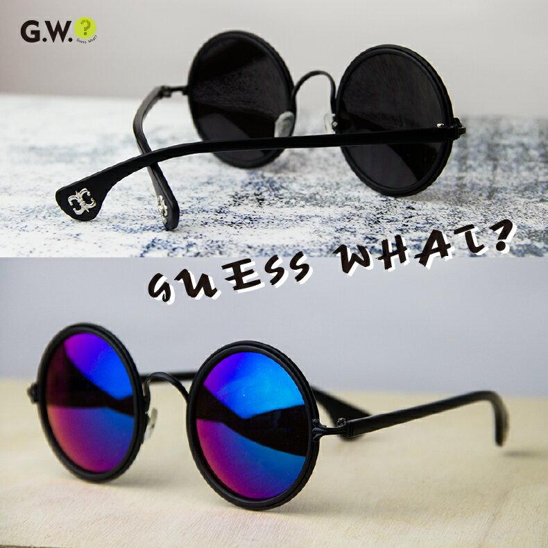G.W. 水銀❥藍紫色復古圓宿小圓框❥反光漸層 渲染❥絢麗前衛墨鏡❥太陽眼鏡❥靓女款❥中性