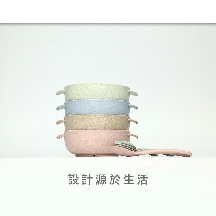 環保多功能餐具 湯碗+湯匙組/兒童飯碗湯匙兩件組【WS0530】BOBI  09/22 1
