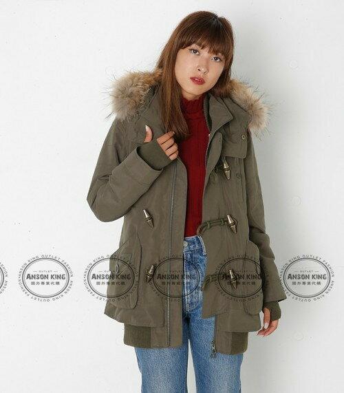 日本代購 正品 2016 SLY-N3B 牛角扣 秋冬新款 短版軍裝羽絨保暖連帽毛毛外套 四色可選 4
