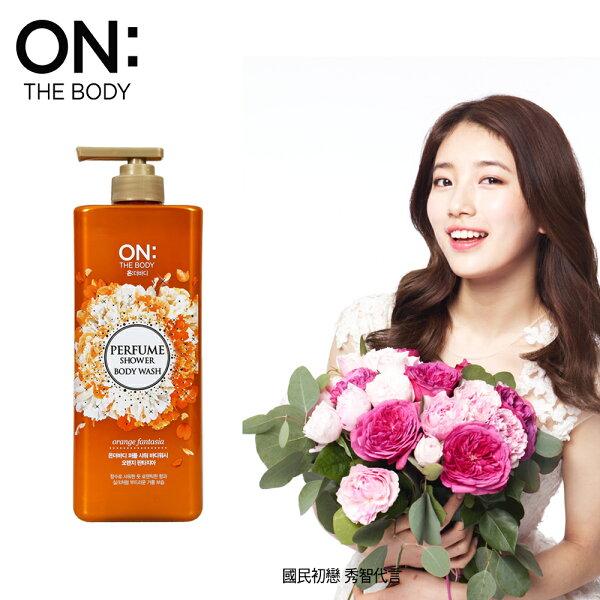 【韓國ON THE BODY】橘色狂想曲香水沐浴精900ML