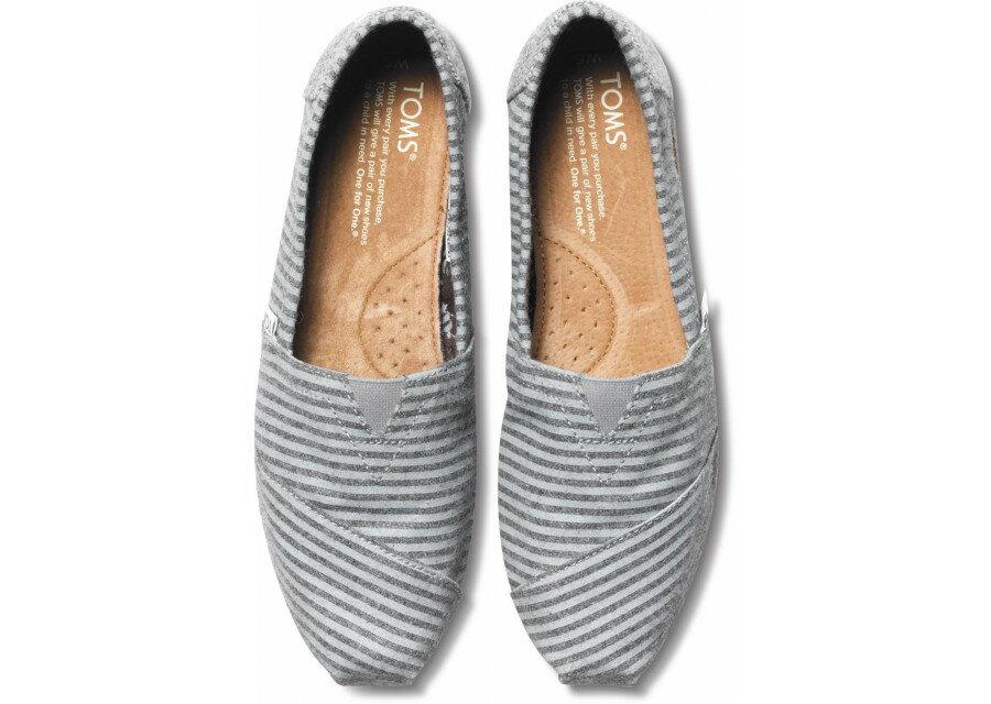 [女款] 國外代購TOMS 帆布鞋/懶人鞋/休閒鞋/至尊鞋 絨面系列  鬍子條紋 2