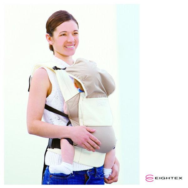 日本【Eightex】COALATTE腰帶型二用式背巾 -深藍色/米色 2