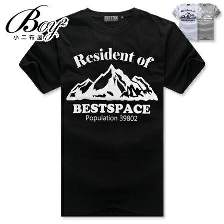 ☆BOY-2☆【ND5473】短袖T恤簡約休閒型男潮流修身英文山脈印花短T 0