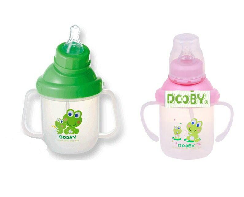 台灣【Dooby 大眼蛙】綜合多功能練習杯-280ml(綠/粉) 0