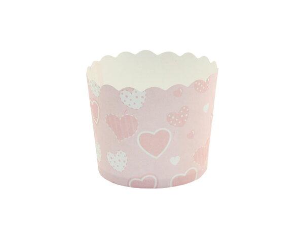 瑪芬杯、杯子蛋糕、烘烤紙杯 MF5040-15 粉底愛心(50pcs/包)