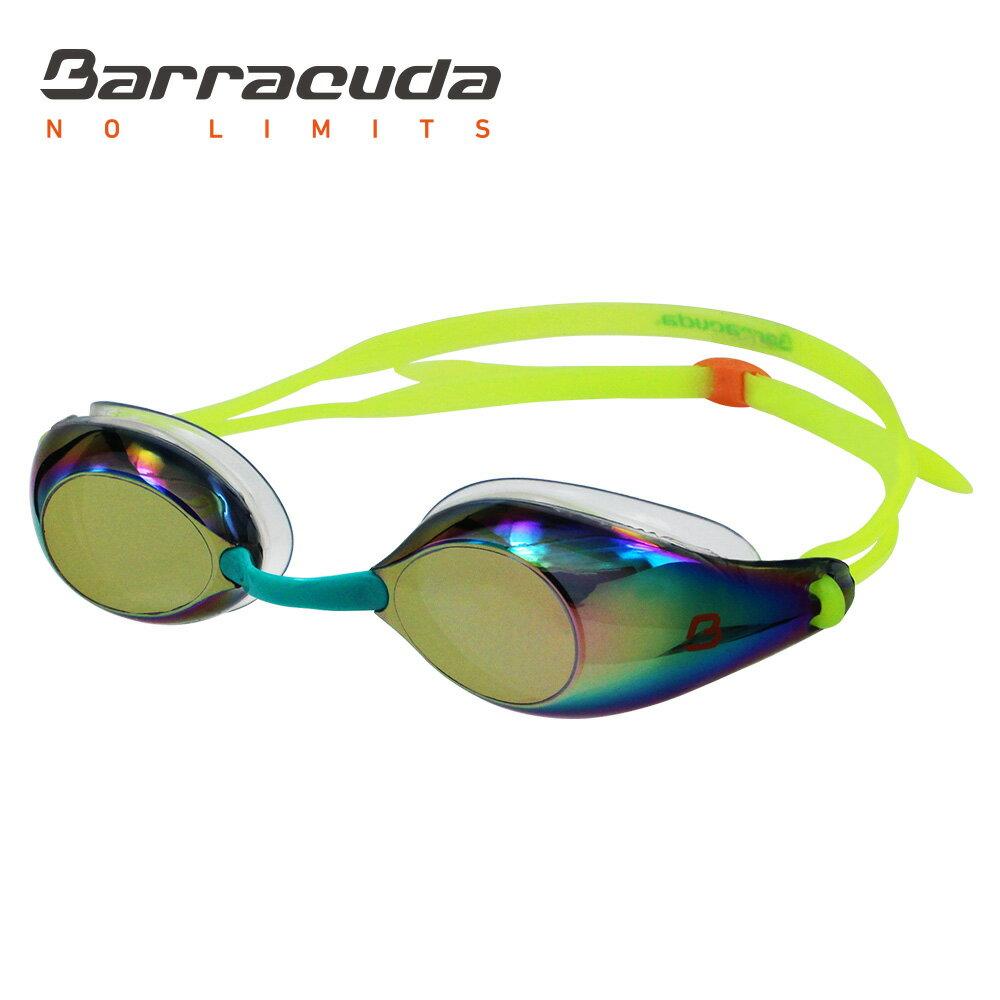 美國巴洛酷達Barracuda成人競技電鍍防霧泳鏡-LIQUID WAVE-#91510 0