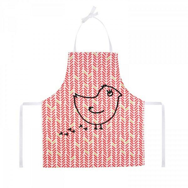 《法國 La Cocotte Paris》廚房的美好時光-孩童圍裙 Chevron rouge coquito 1