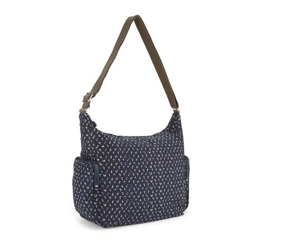 OUTLET代購【KIPLING】多層側背包 旅行袋 斜揹包 潑墨藍 2