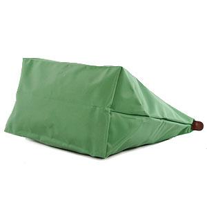 [1899-M號] 國外Outlet代購正品 法國巴黎 Longchamp 長柄 購物袋防水尼龍手提肩背水餃包淺綠色 2