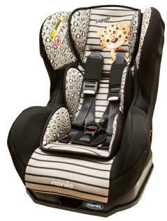 Nania 納尼亞 - 卡通動物系列0-4歲汽車安全座椅(汽座) -花豹灰 加贈Munchkin - 外出用握把餅乾盒