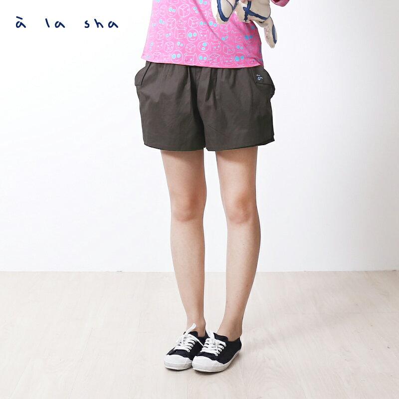 a la sha mucha 口袋打褶造型短褲裙 0
