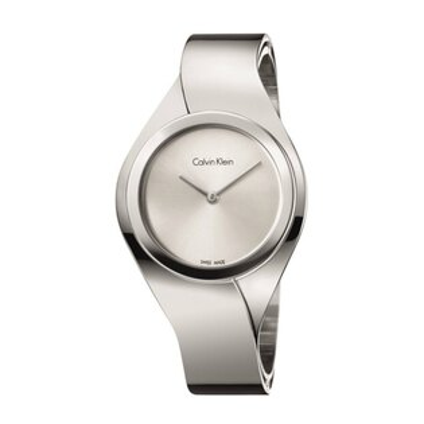 CK 喚醒系列(K5N2S126)質感銀手環(小版)腕錶/白面27mm