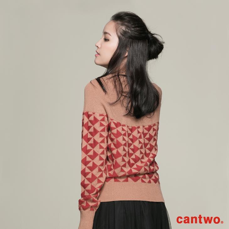 cantwo復古幾何圖紋針織上衣(共二色) 3