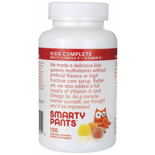 SmartyPants  兒童綜合維生素+omega3+維他命D 120粒 美國品牌《ibeauty愛美麗》