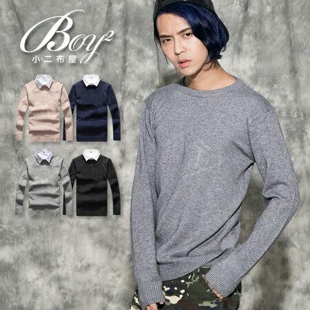 ☆BOY-2☆【PPK86031】針織衫 VESTI鋼印質感毛衣 0