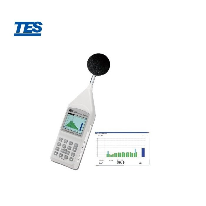 泰仕 TES-1358C  1/1及1/3 八音度即時音頻分析儀(USB) - 限時優惠好康折扣