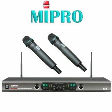 MIPRO ACT-100A無線麥克風 雙頻道自動選訊接收機 共可預設102個頻率組合 配2支手握麥克風