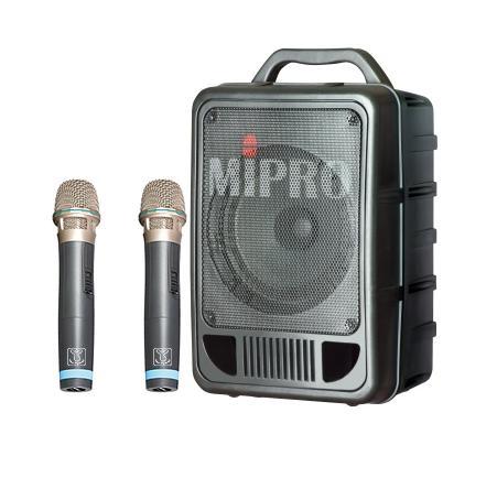 MIPRO MA-705 精緻型手提式無線擴音機 攜帶式喊話器/教學機 附二支無線麥克風 適用 集會.教學.上課.教會.幼稚園