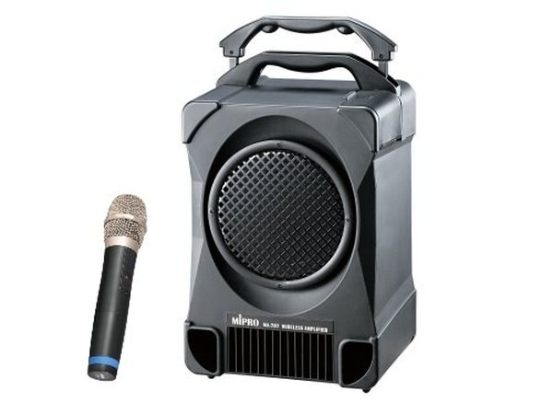 MIPRO MA-707 UHF 攜帶式無線麥克風擴音機喇叭 CD座+USB+一支無線麥克風