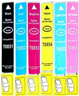 EPSON 85N【台灣耗材】EPSON相容墨水匣T0851/T0852/T0853/T0854/T0855/T0856單顆任選 適用EPSON PHOTO 1390 EPSON 85N