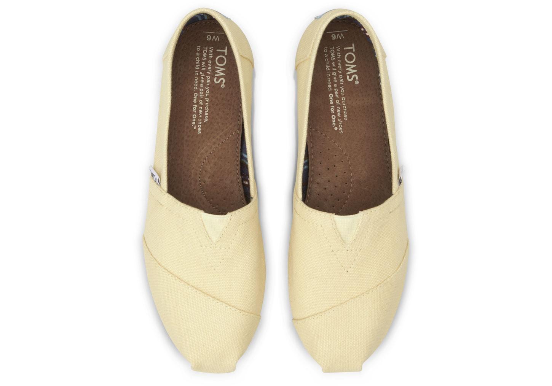 【TOMS】淡黃色經典帆布休閒鞋  Yellow Women's Canvas Classics 3