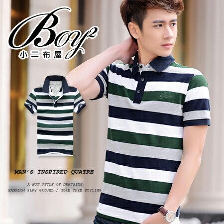 ☆BOY-2☆【NZ93003】美式休閒滿版男裝條紋POLO衫 0