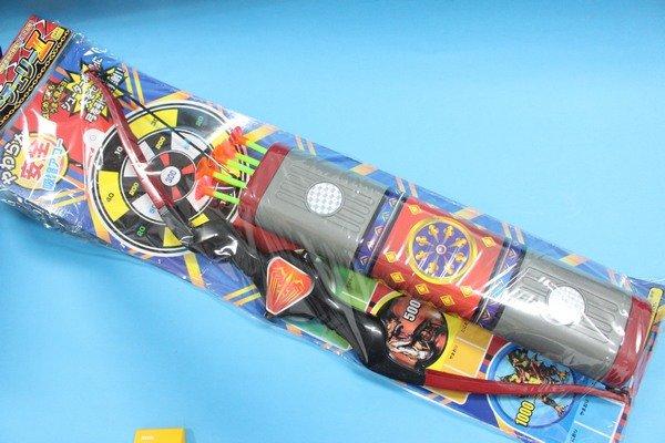 兒童弓箭射擊玩具組 日系吸盤弓箭組 童玩玩具65公分^(附43cm 6支吸盤箭 箭袋^)