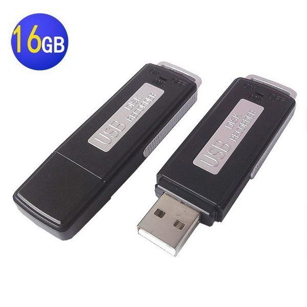 隨身碟 錄音筆  (黑)  秘錄筆 降噪 監聽 徵信  一鍵錄音  邊充邊錄 蒐證【16G】