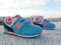 New Balance 美國慢跑鞋/跑步鞋推薦Shoestw【KV574K2Y】NEW BALANCE 574 童鞋 運動鞋 中童 水藍桃紅 麂皮 萬聖節
